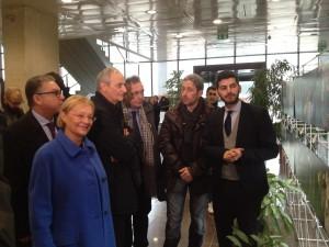 La Presidente Saliera con l'arcivescovo Zuppi e Lafram