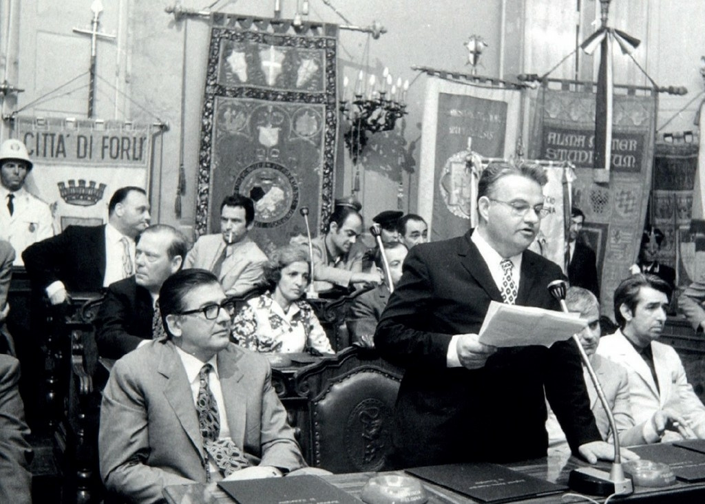1970-L'intervento di Sergio Cavina durante l'insediamento del Consiglio regionale il 13 luglio