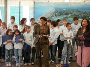 2008-La presidente Monica Donini al meeting dei giovani europei