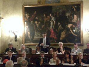 2010-Il presidente Matteo Richetti apre la seduta solenne per il 40 anniversario della nascita della Regione