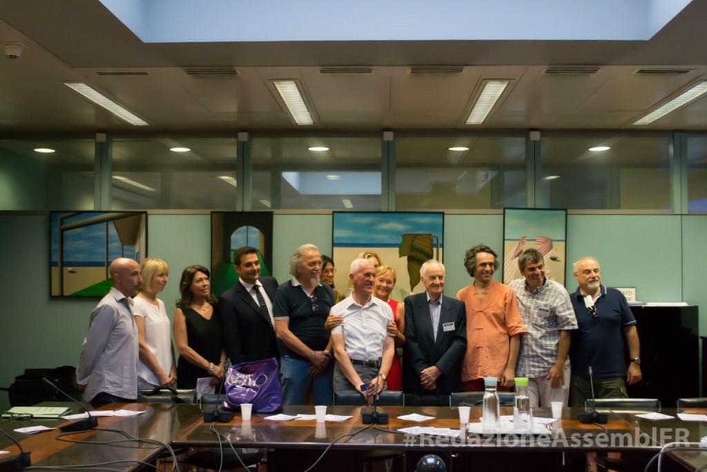 2017-La presidente Simonetta Saliera con i narratori del Cantiere 2 agosto